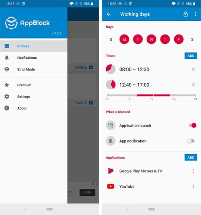 Ứng dụng học tập AppBlock