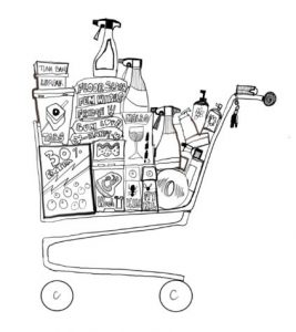 OCD trolley full of shopping