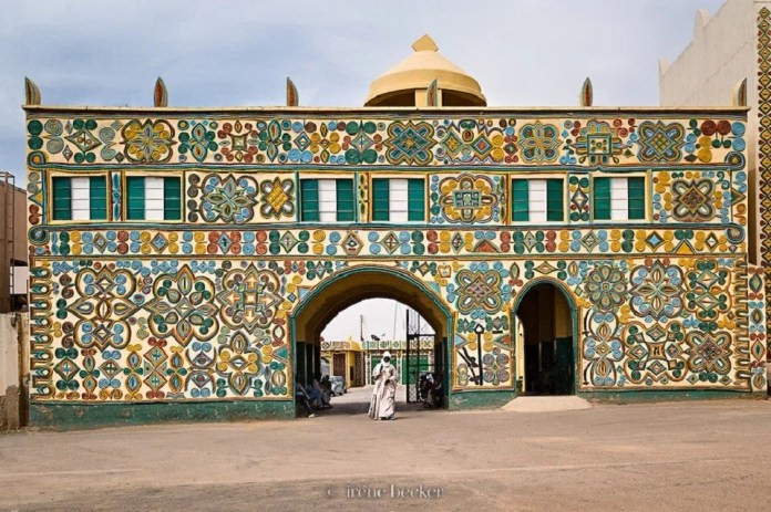 Entrance to the Zazzau's palace [Mosaic]