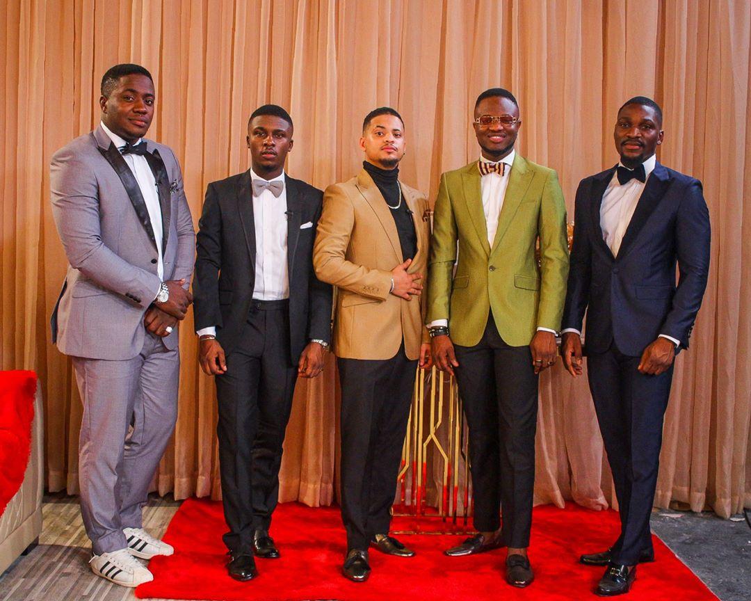 Bitto, Lolu, Rico Swavey, Dee One and Tobi Bakre are ready for Big Brother Naija Reunion show. [Instagram/bigbronaija]