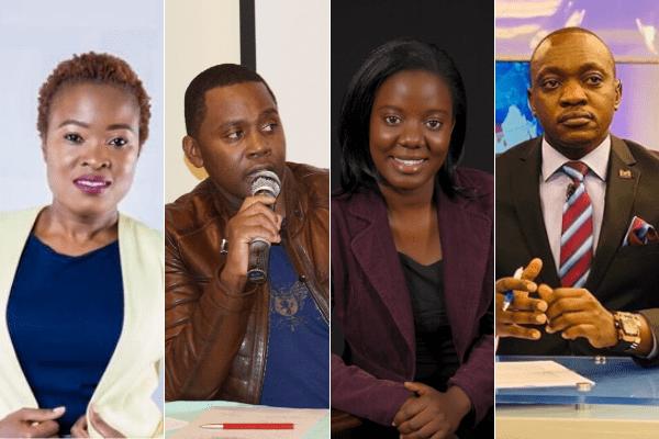 Journalists (L to R) Brenda Wanga, Debarl Inea, Sharon Baranga and Ken Mijungu who have all been fired from NTV