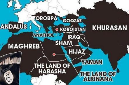 Mapa imperium Państwa Islamskiego