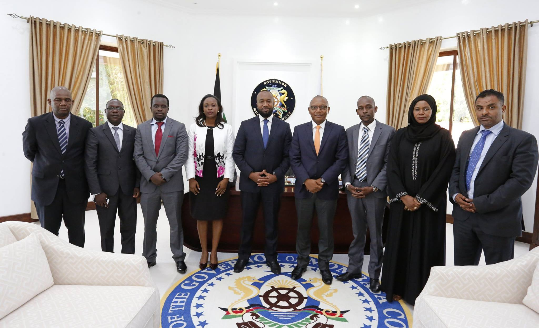 Mombasa Governor Hassan Joho with members of his cabinet