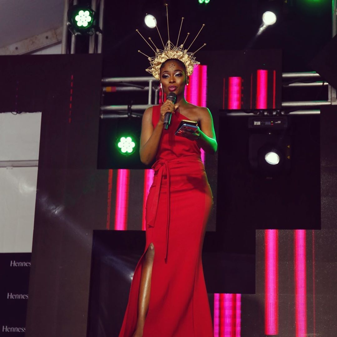 Violetta Ngina hosting the 2019 Pulse Music Video Awards (PMVA)