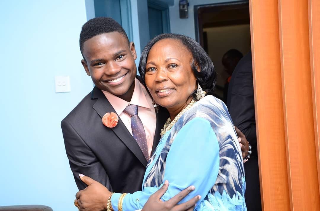 Josh Ryna Mwakideu with her grandmother