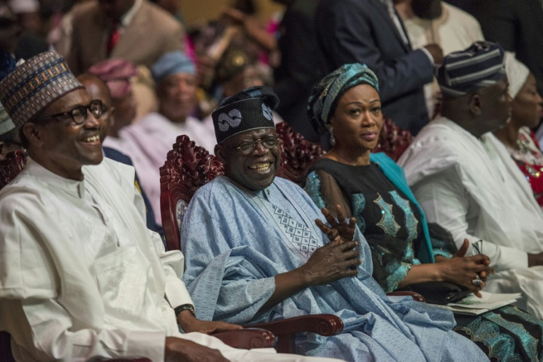 Buhari and the Tinubus during a party event (Presidency)