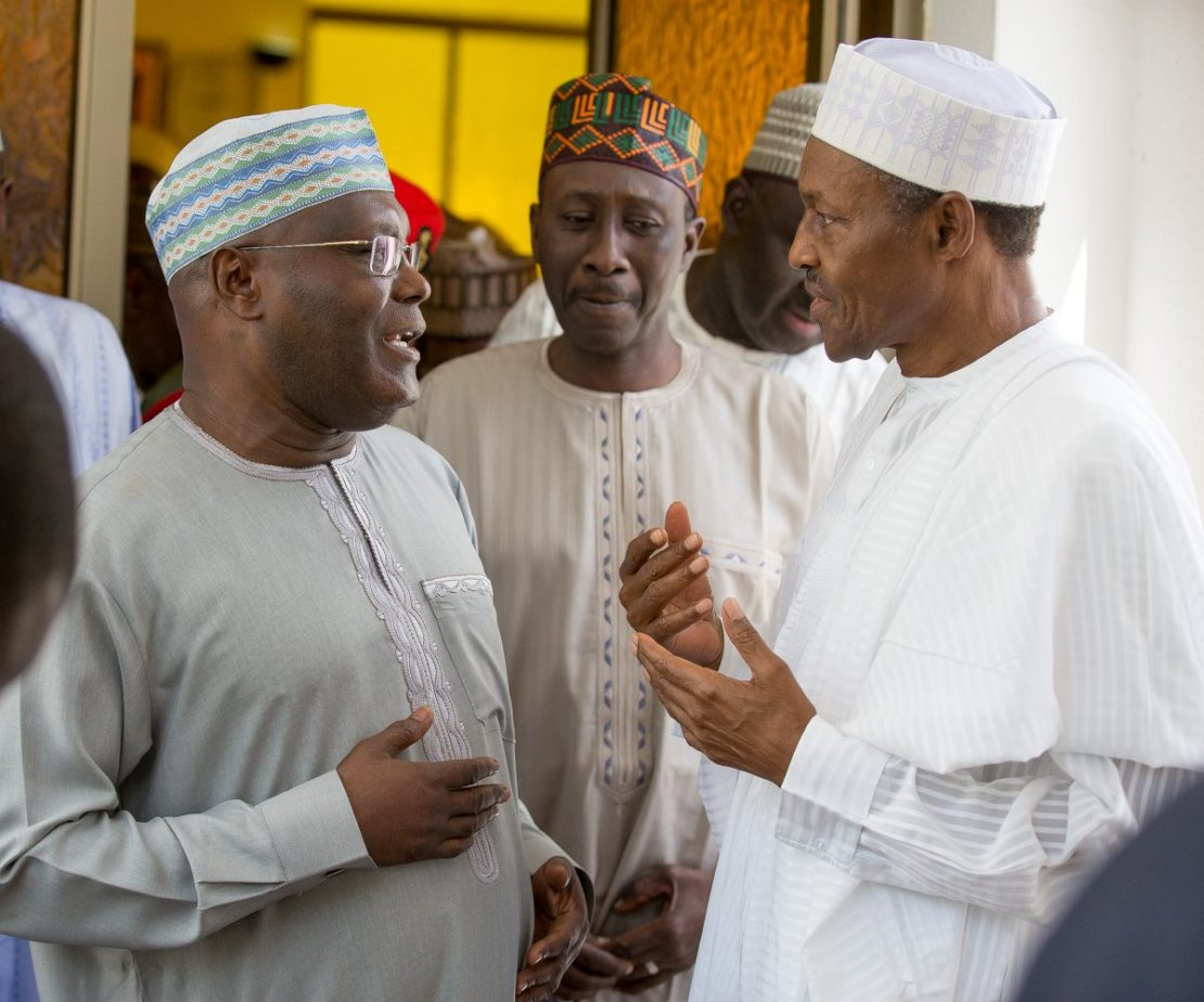 PDP presidential candidate , Atiku Abubakar and President Muhammadu Buhari [BBC]