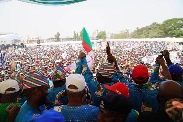 The crowd at APC campaign ground in Ikeja screamed APC (APC Lagos)