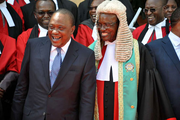 Uhuru Kenyatta asks Chief Justice David Maraga to consider moving Court of Appeal Judges to KICC offices [ARTICLE] - Pulse Live Kenya