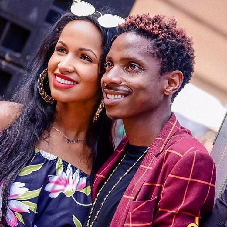 Eric Omondi with his fiancée Chantal. I'm not aware of any wedding in September – Eric Omondi