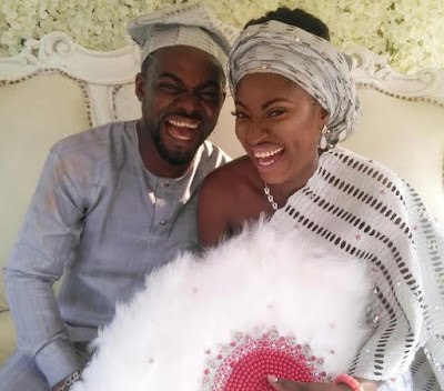 Photo from Abounce's traditional wedding to Yvonne Jegede