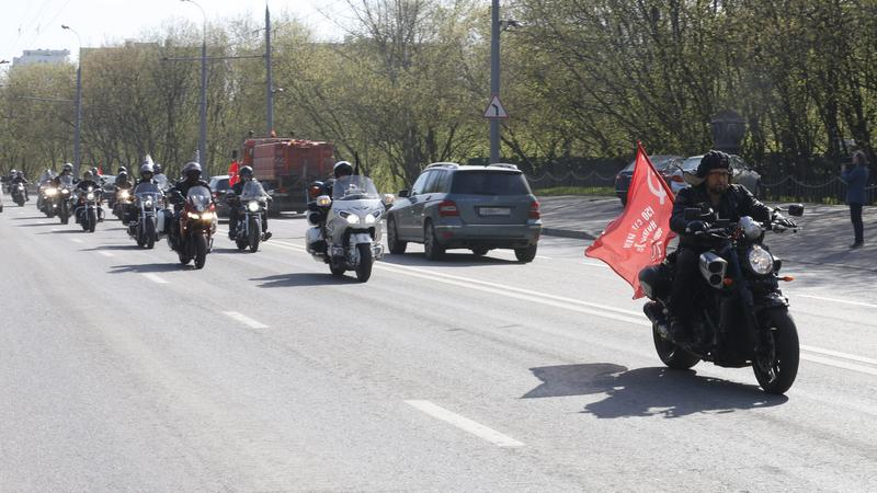 RUSSIA NIGHT WOLVES TOUR (Russian motorcycle club 'Night Wolves' prepares for rally 'The roads of the Victory' from Moscow to Berlin )