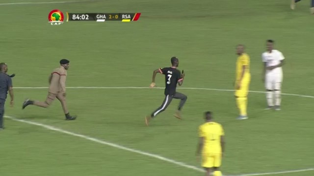 Harmless pitch invader steals show during Ghana vs South Africa ...