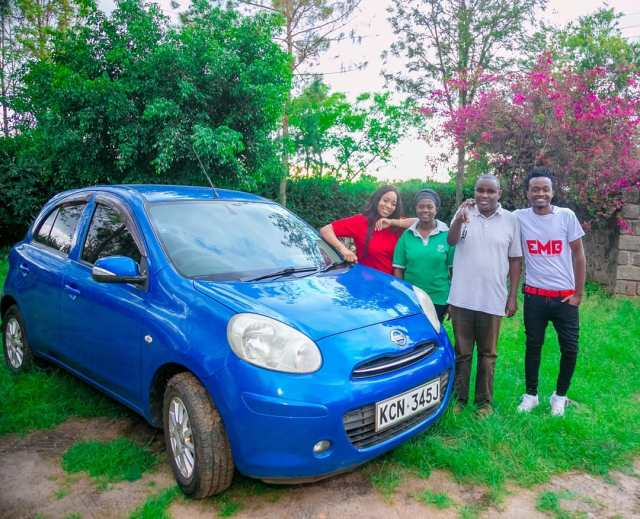 Bahati reveals unknown details behind the Car gift he handed to singer Denno, reveals three people who helped him buy the car