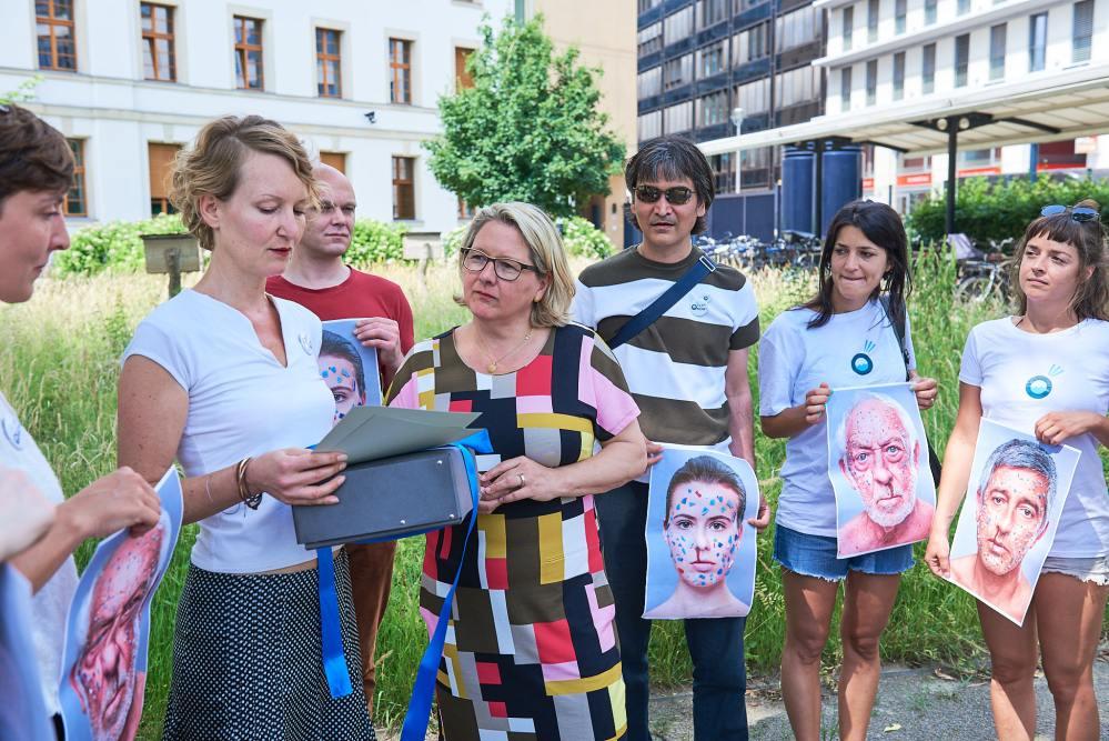 Ocean. Now! im Bundesministerium für Umwelt - Übergabe Petition an Svenja Schulze X