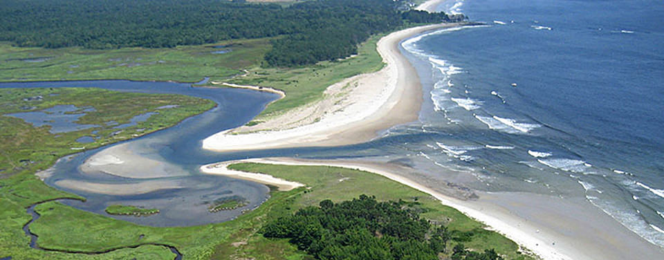 Figure 1 – An example of an estuary where freshwater rivers meet the sea.