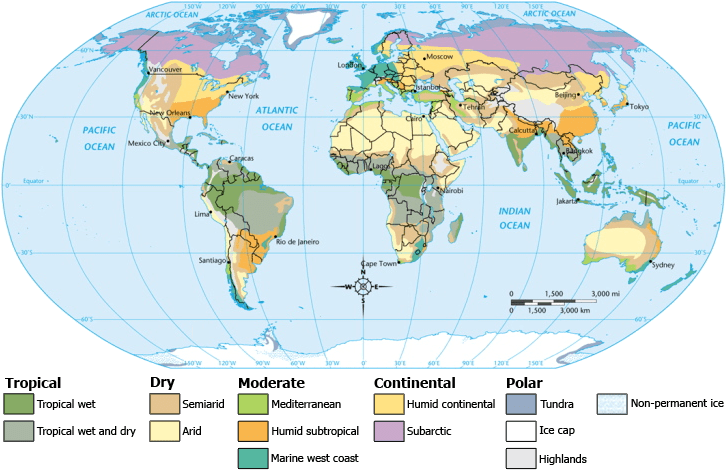 Global Climate map.  Relevant climate discussed in the Horton et al. are arid, semi-arid, and humid; source: https://en.wikipedia.org/wiki/Climate#/media/File:ClimateMap_World.png