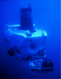 Figure 3 – Alvin the submersible, the human operated vehicle used by the researchers to pick up and put down the sponges.