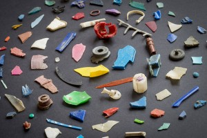 Image 5: A wide array of plastic fragments found in a freshwater river.