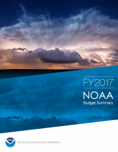 The NOAA Blue Book for Fiscal Year 2017. These books follow the President's Budget Recommendations, which, under Obama, were generally generous. They are a good guide to what you can expect for federal marine science funding.