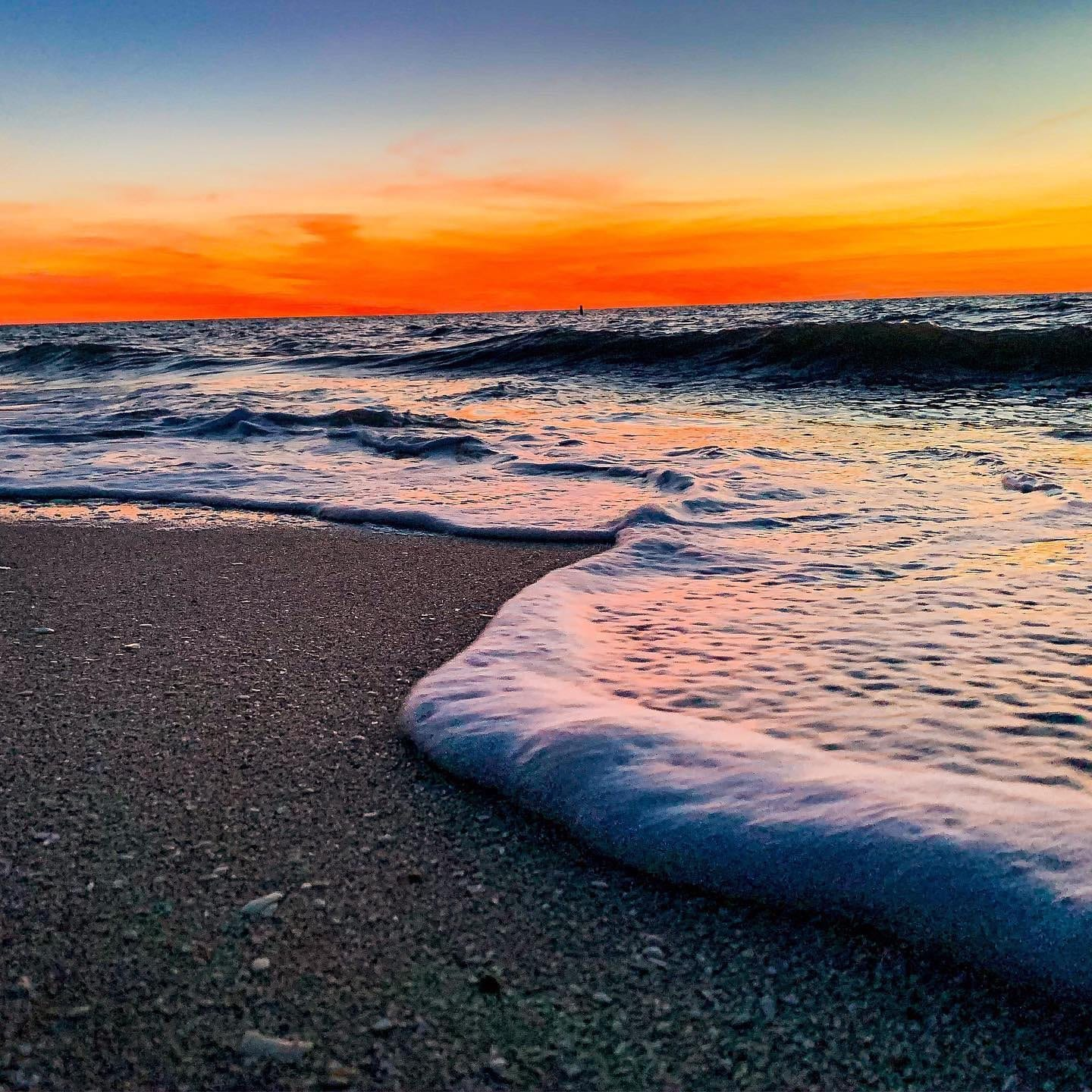 Photo of the Ocean at Sunset