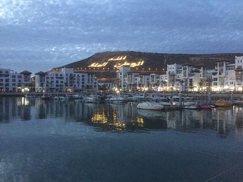 Agadir Marina by Night