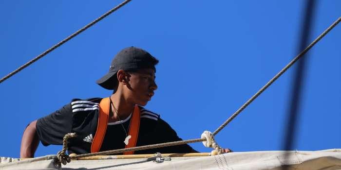 Louiz auf dem Mast