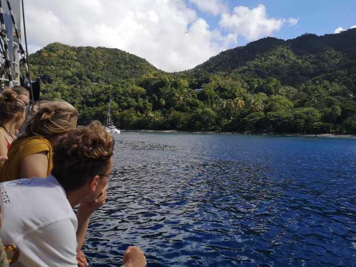 Ankunft in der Karibik