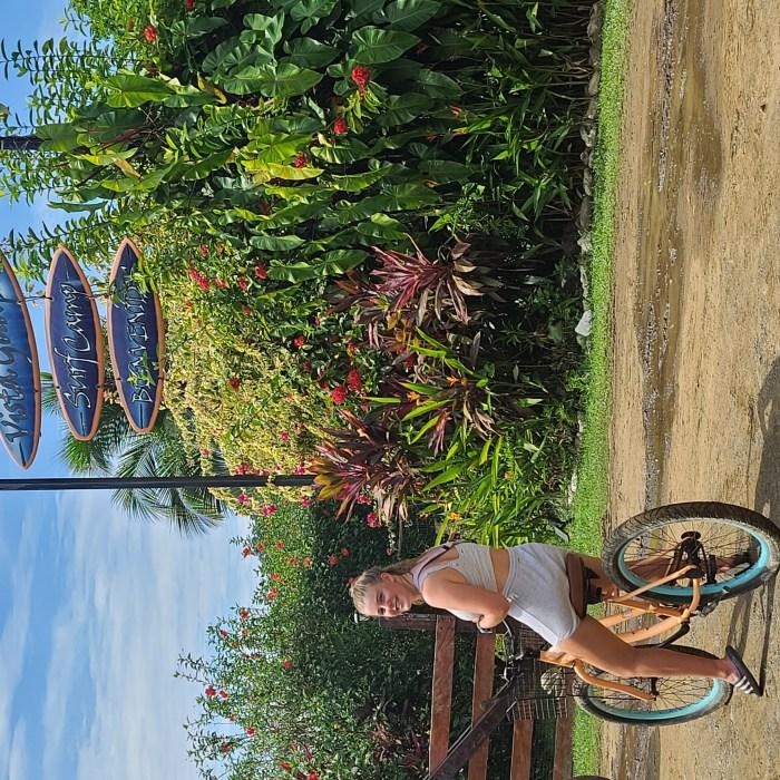 Martha beim Radfahren