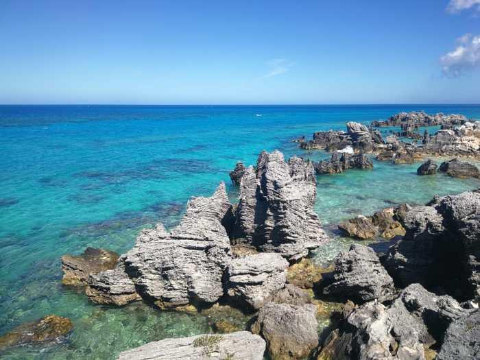 Felsenlandschaft auf Bermuda