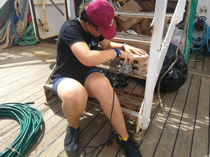 Malina as a deckhand