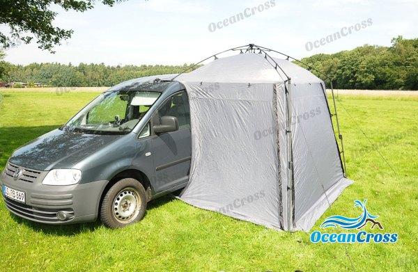 Voortent op VW Caddy Bestelwagen