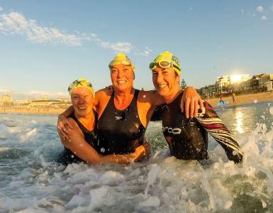 First ocean swim event