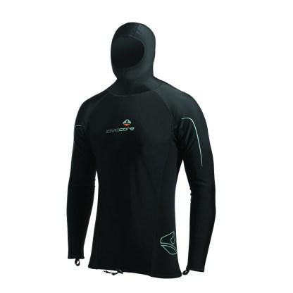 lavacore long sleeve hooded shirt
