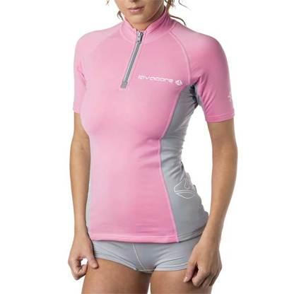 lavaskin short sleeve shirt pink spf 50+