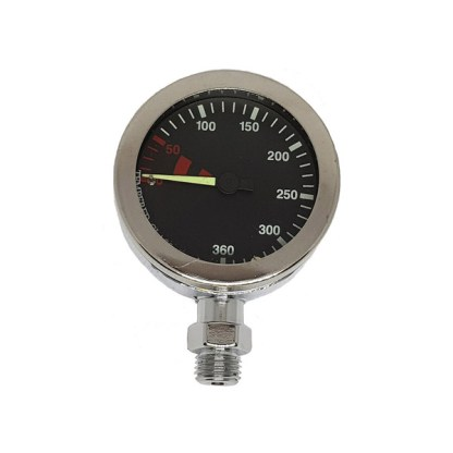 single pressure gauge chrome black face
