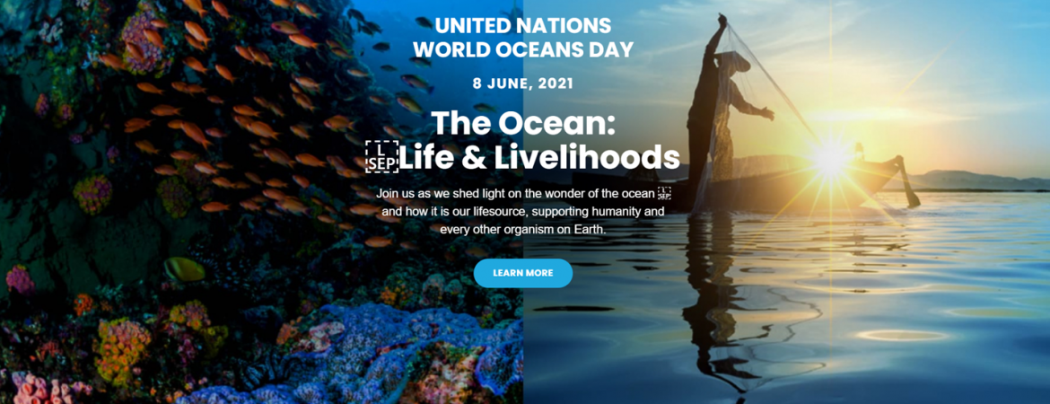 """The world ocean day is celebrated internationally on 8 june every year since 2008, with an aim to advance awareness of the vital importance of oceans, the role they play in sustaining a healthy planet, and to foster public interest in their protection, and the sustainable management of their resources.this year's theme is """"the ocean: World Oceans Day 2021 The Ocean Innovation Challenge Oic Undp"""