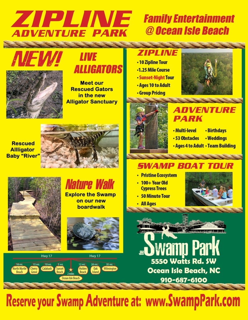 The Swamp Park Adventure Park Ocean Isle Beach NC
