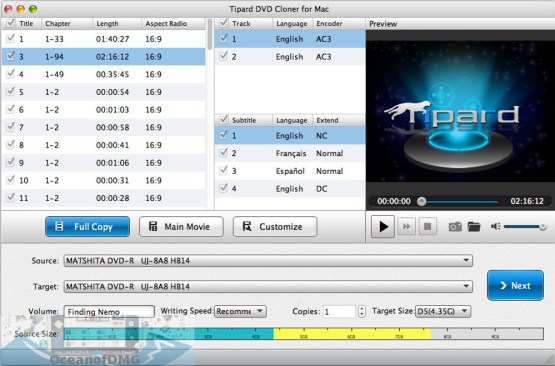 Tipard DVD Cloner for Mac Offline Installer Download-OceanofDMG.com