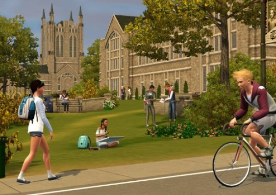 The Sims 2 University life features