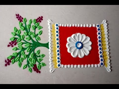 design of tulsi vivah rangoli