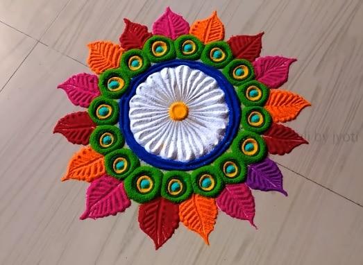 rangoli designs for dev dilwai