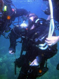 Matt makes diving history with an ocean dive in the Florida Keys, and becomes the world's first ventilator dependent diver.
