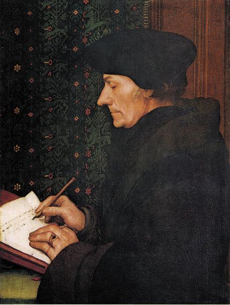 Erasmus din Rotterdam - portret de Hans Holbein (Tânărul)