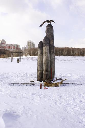 Perun idol near Moscow (Москва)