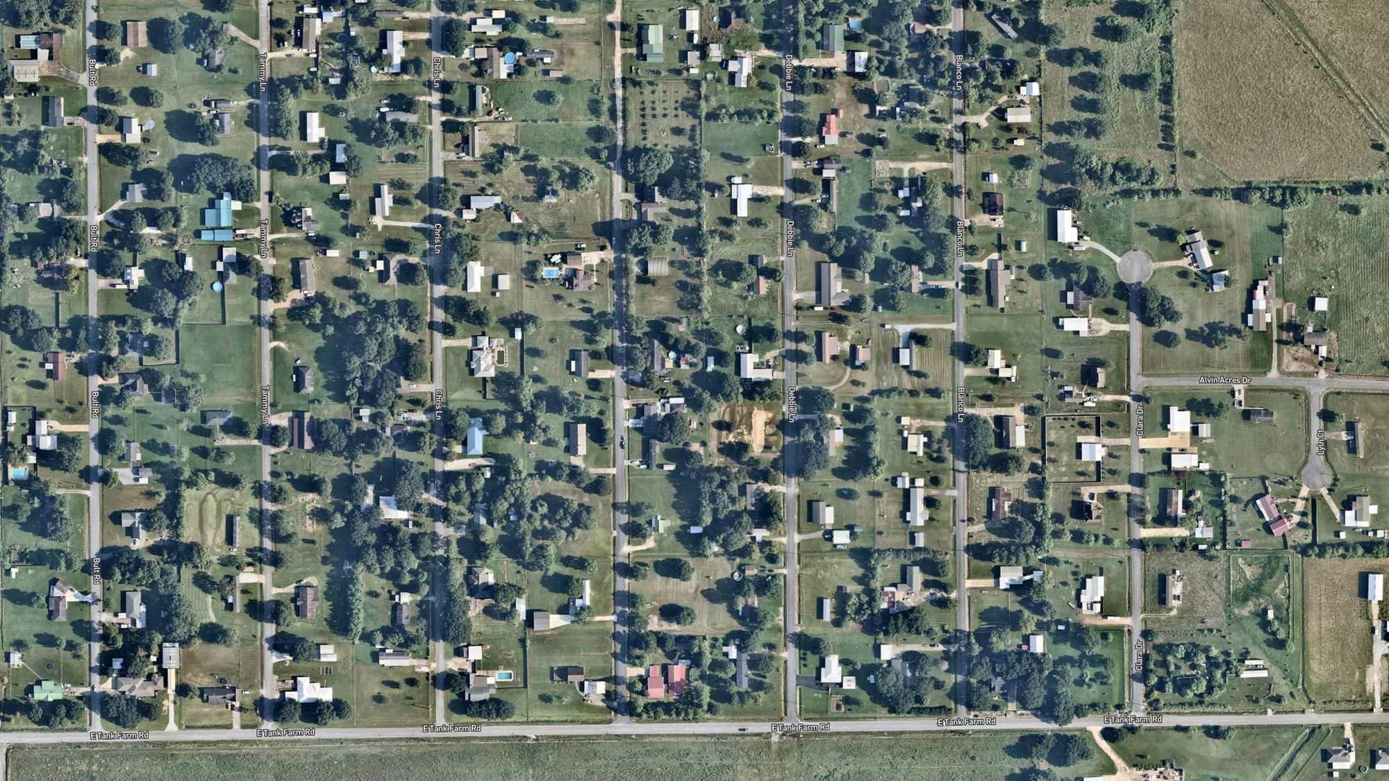 Lake Charles, Louisiana (East of Lake Charles Regional Airport) before Laura