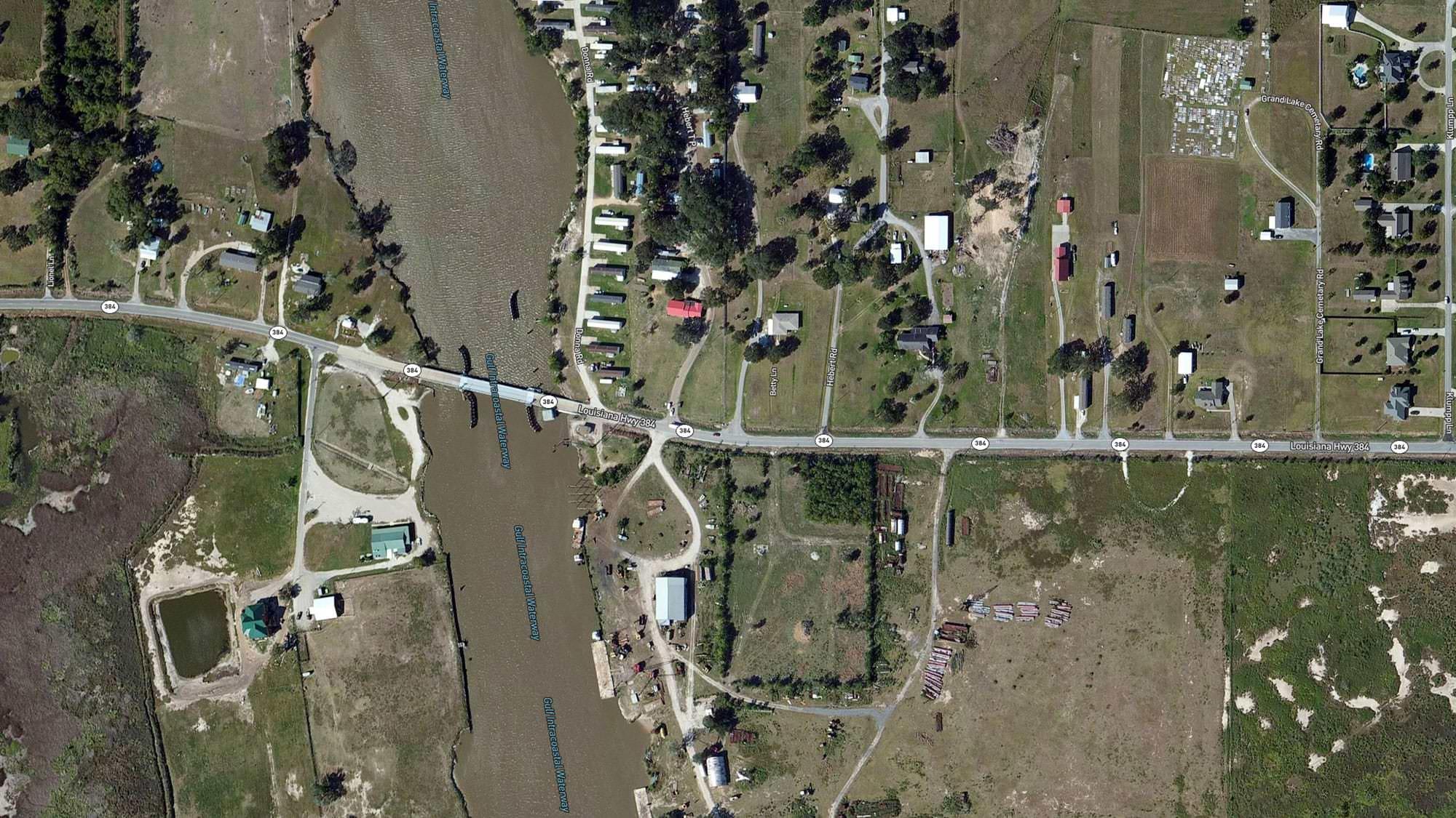 East of Grand Lake, Louisiana (near the Gulf Intracoastal Waterway) before Laura