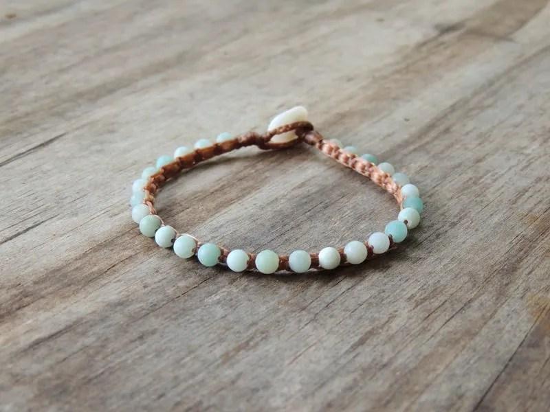 Ocean Tuff Jewelry - Matte Blue Amazonite Microweave Gemstone Bracelet