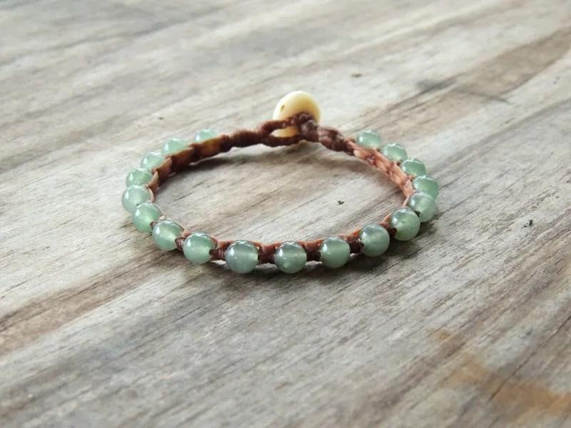 Ocean Tuff Jewelry - Green Aventurine Gemstone Bracelet