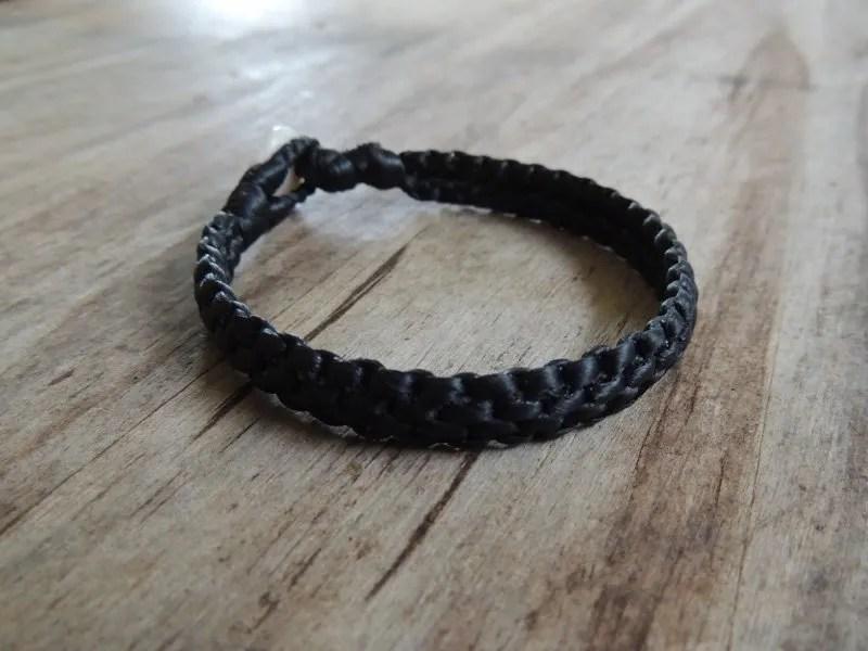 Ocean Tuff Jewelry - Hand-Woven Bracelet in Black (4-strand)
